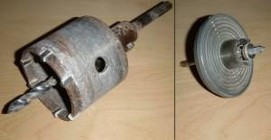 Bohrkronen 68 mm und 25 mm