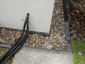 Einführung Koax-Kabel von Schüssel