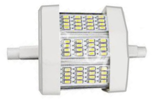 LED Modul 5W R7s 78 mm dimmbar 48 LED Warmweiß